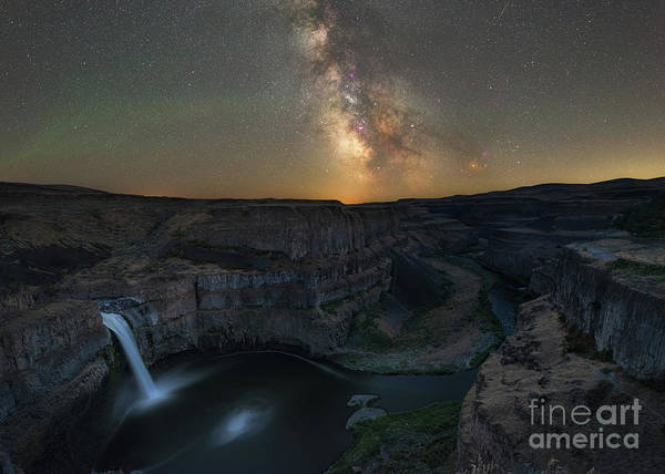 Palouse Photograph - Palouse Falls Milky Way Galaxy  by Michael Ver Sprill