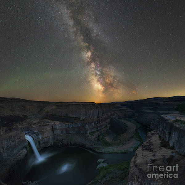 Photograph - Palouse Falls Milky Way  by Michael Ver Sprill