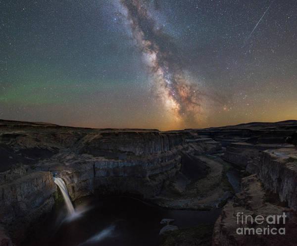 Photograph - Palouse Falls Night Lights  by Michael Ver Sprill