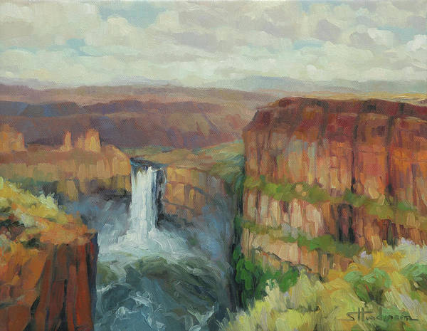 Wall Art - Painting - Palouse Falls  by Steve Henderson