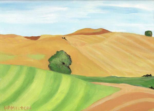 Barley Painting - Palouse Hills by Sarah Hamilton