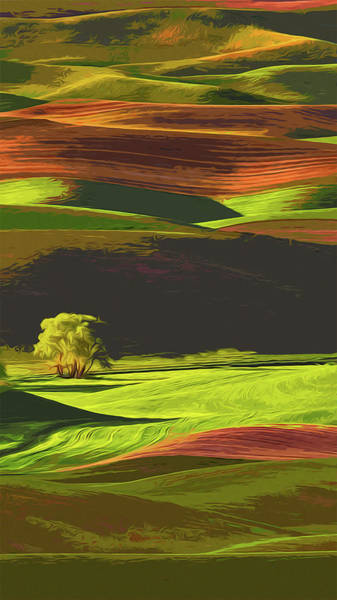 Barley Painting - Palouse Hills, Washington by Andrea Mazzocchetti