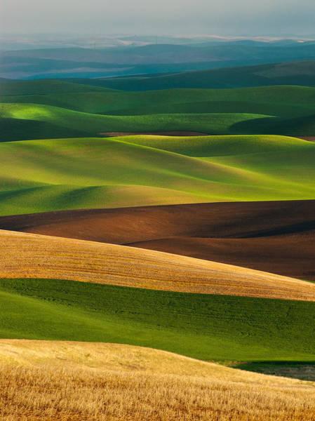 Butte Wall Art - Photograph - Palouse Layers by Thorsten Scheuermann