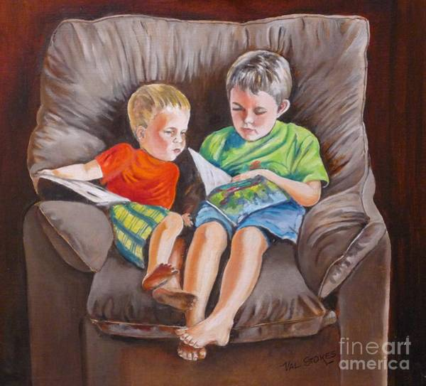 Painting - Pals by Val Stokes