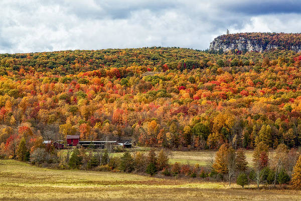 Photograph - Paltz Point Mohonk Tower Mountain by Susan Candelario