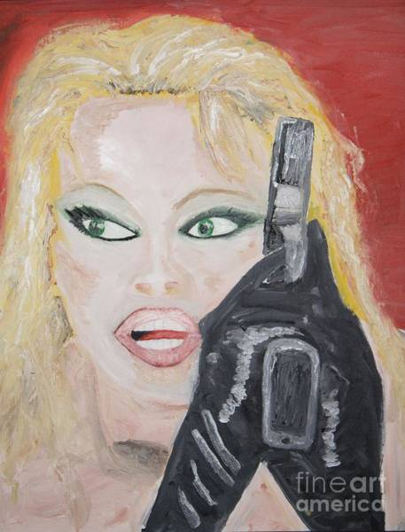Snapdragons Painting - Pamela Anderson by Travianno
