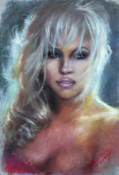 Authors Wall Art - Pastel - Pamela Anderson by Ylli Haruni