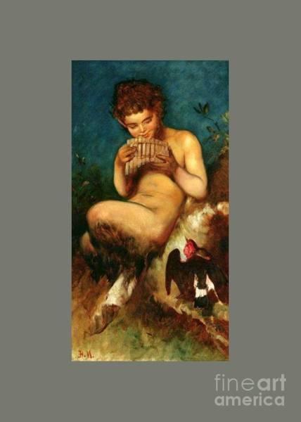 Satanism Digital Art - Pan And Faun by Frederick Holiday