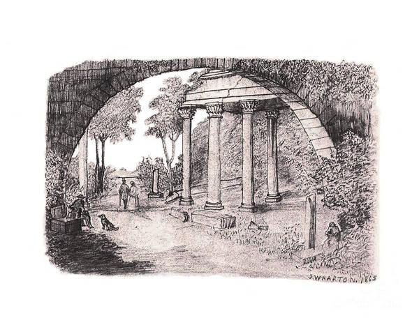 Pan Watching Ruins Of The Past Art Print