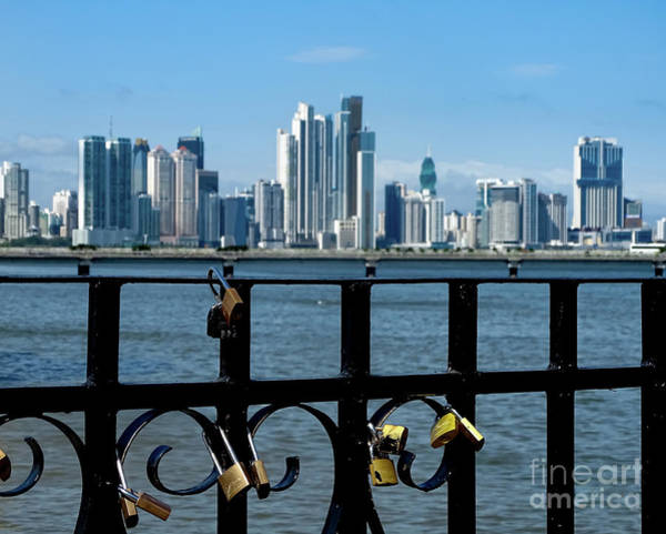 Photograph - Panama City Love Locks 2 by Camille Pascoe