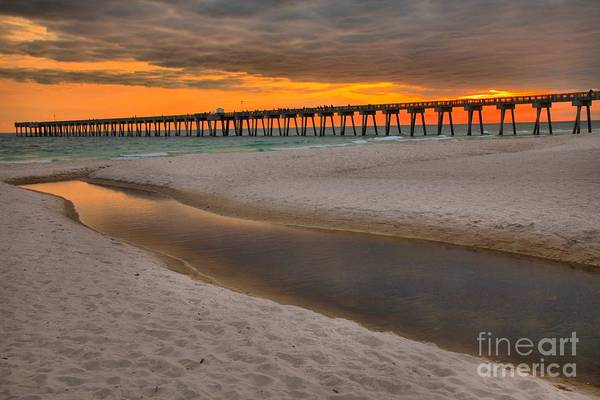 Photograph - Panama City Pier Sunset by Adam Jewell