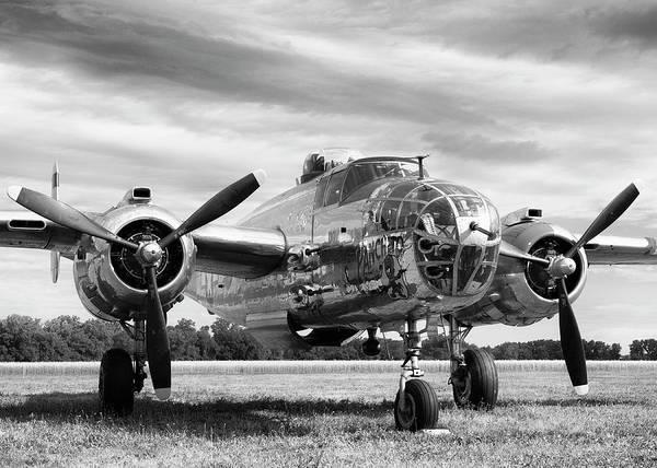 Warplane Photograph - Panchito B-25 by Peter Chilelli