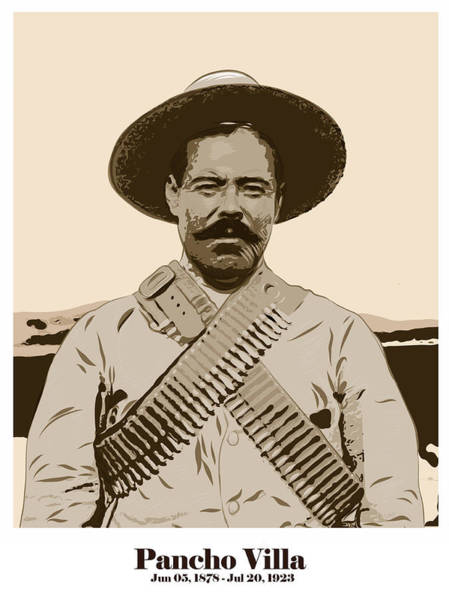 Wall Art - Digital Art - Pancho Villa by Antonio Romero