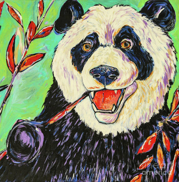 Wall Art - Painting - Panda by Arrin Burgand