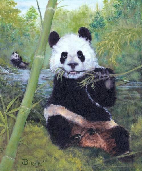 Panda Buffet Art Print