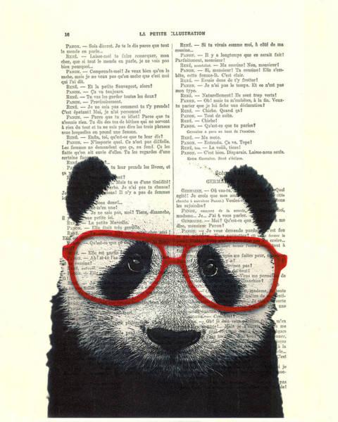 Adorable Wall Art - Digital Art - Panda Nursery Art by Madame Memento
