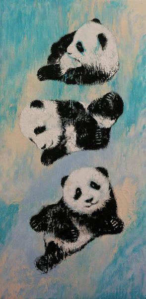 Martial Arts Painting - Panda Karate by Michael Creese
