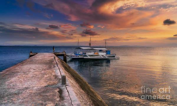 Photograph - Pandanon Island Sunset by Adrian Evans