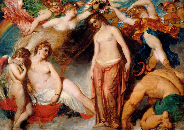 Classical Mythology Painting - Pandora Crowned By The Seasons by William Etty