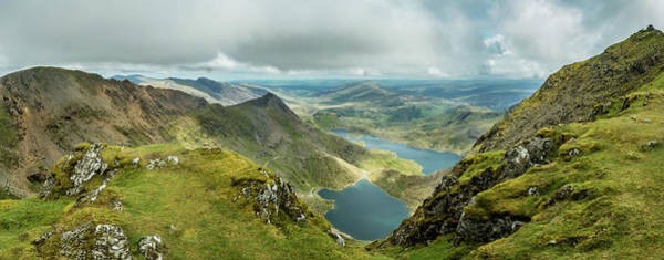Photograph - Pano Snowdonia by Nick Bywater
