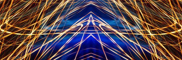 Photograph - Panorama Light Painting Abstract Ufa 2015 #1 by John Williams