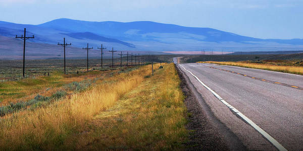 Photograph - Panorama Of A Montana Road Highway Running Through The  Mountain Foothills Near Yellowstone National by Randall Nyhof
