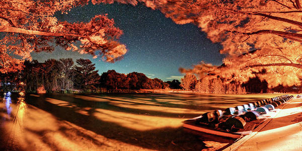 Photograph - Panorama Of A Starry Night Over The Frio River - Garners State Park - Texas Hill Country by Silvio Ligutti