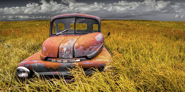 Photograph - Panorama Of An Old Dodge At Roads End by Randall Nyhof