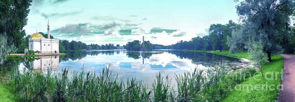 Photograph - panorama of  Big Lake in Catherine Park by Ariadna De Raadt