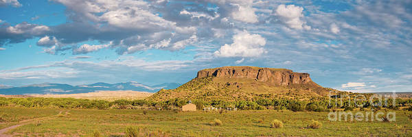 Land Of Enchantment Photograph - Panorama Of Black Mesa At San Ildefonso Pueblo - New Mexico Land Of Enchantment by Silvio Ligutti