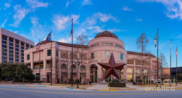 Bullock Texas State History Museum Photograph - Panorama Of Bob Bullock Museum Of Texas History - Austin Texas by Silvio Ligutti