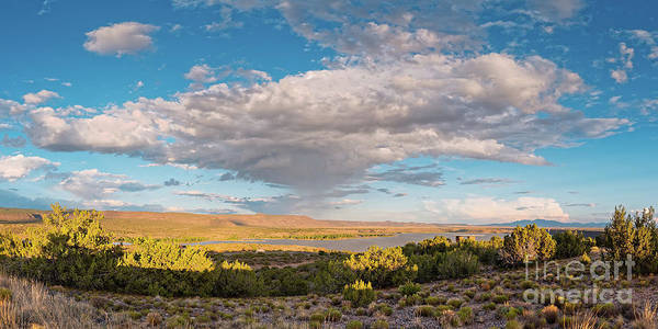 Land Of Enchantment Photograph - Panorama Of Cloud Formation Over Cochiti Lake - Rio Grande Valley New Mexico by Silvio Ligutti