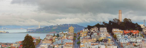 Wall Art - Photograph - Panorama Of Coit Tower - Yerbabuena Island And Bay Area - San Francisco California by Silvio Ligutti