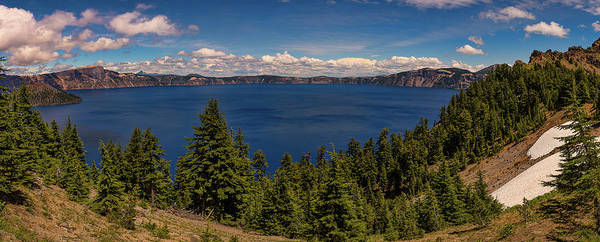 Photograph - Panorama Of Crater Lake by Brenda Jacobs