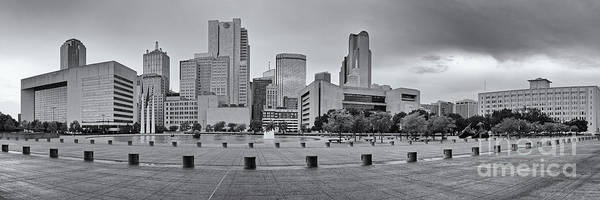 Wall Art - Photograph - Panorama Of Dallas Skyline From City Hall - North Texas by Silvio Ligutti
