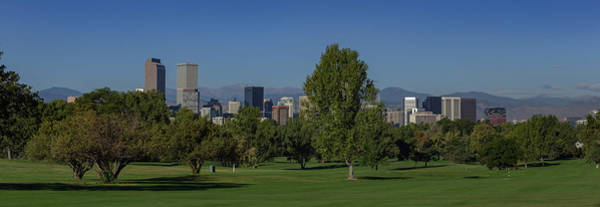 Wall Art - Photograph - Panorama Of Downtown Denver Skyline From City Park Golf Course by Bridget Calip