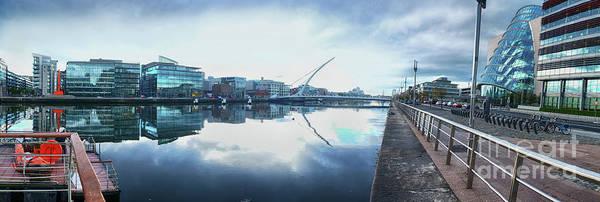 Photograph - panorama of Dublin modern buildings by Ariadna De Raadt