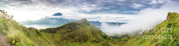 Photograph - Panorama Of Early Morning On The Caldera At Mount Batur Volcano In Bali by Global Light Photography - Nicole Leffer