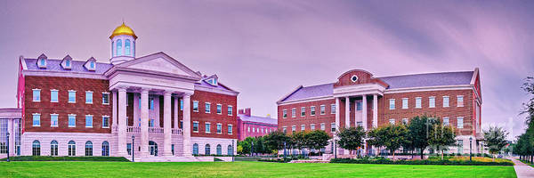 Wall Art - Photograph - Panorama Of Harold Clark And Annette Caldwell Simmons Hall - Southern Methodist University - Dallas by Silvio Ligutti
