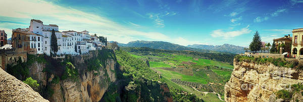 Photograph - panorama of  historical village of Ronda, Spain by Ariadna De Raadt