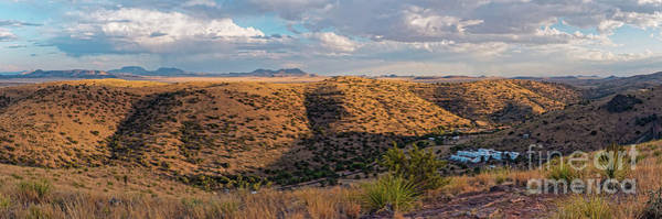 Photograph - Panorama Of Keesey Canyon And Indian Lodge At Davis Mountains State Park - Fort Davis West Texas by Silvio Ligutti