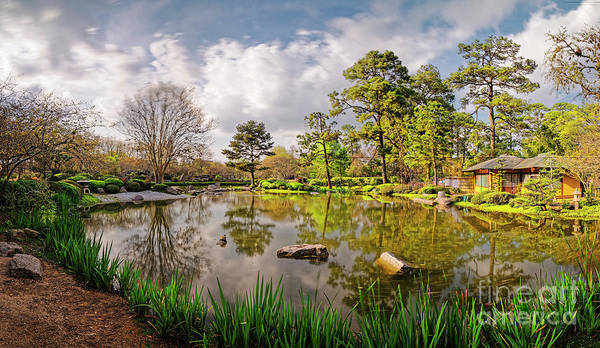 Wall Art - Photograph - Panorama Of Late Afternoon At The Houston Japanese Garden In Hermann Park - Houston Texas by Silvio Ligutti