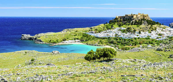 Photograph - Panorama Of Lindos, Rhodes, Greece by Global Light Photography - Nicole Leffer