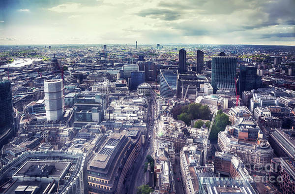 Photograph - panorama of London city  by Ariadna De Raadt