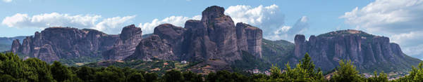 Wall Art - Photograph - Panorama Of Meteora Rocks by Jaroslaw Blaminsky