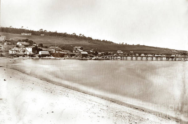 Photograph - Panorama Of Monterey.  By C. E. Watkins Circa 1882 by California Views Archives Mr Pat Hathaway Archives