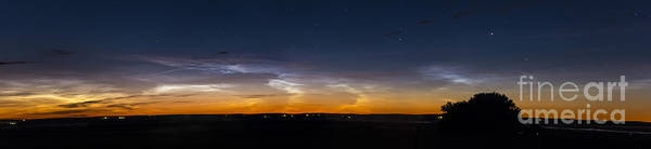 Mesosphere Photograph - Panorama Of Noctilucent Clouds by Alan Dyer