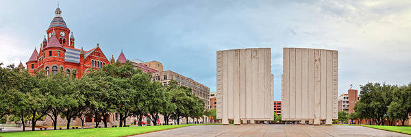 Wall Art - Photograph - Panorama Of Old Red Museum And Jfk Memorial In Downtown Dallas - West End Historic District - Texas by Silvio Ligutti