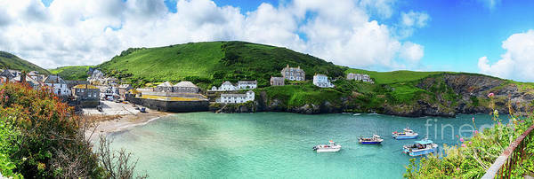 Photograph - panorama of old village Port Isaac, Cornwall by Ariadna De Raadt