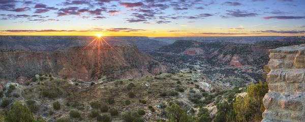 Wall Art - Photograph - Panorama Of Palo Duro Canyon At Sunrise 1 by Rob Greebon